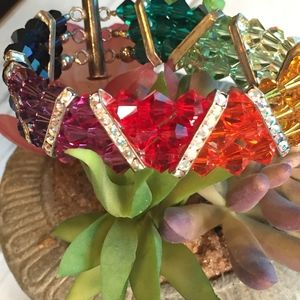Jewelry - Swarovski Crystal Triple Stranded Monet Bracelet